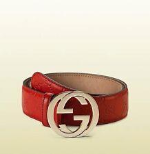 Gucci Belt Interlocking G Buckle Leather Size 32-34