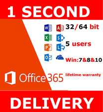 Microsoft Office 365 2016 ProPlus Home Business 5Users Lifetime INSTANT DELIVERY