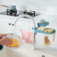 Kitchen Rag Storage Holder Double-layer Rotatable Faucet Drain Rack Sink Basket
