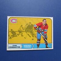 YVAN COURNOYER 1968-69 O-Pee-Chee # 62  OPC Montreal Canadiens 1969  68-69 NICE