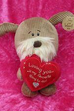 """Lots de Woof ~ loving you Marron Chien ~ 9"""" Soft Plush Toy par Xpressions"""