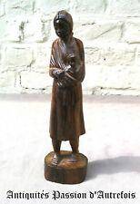 B20130941 - Statuette Africaine femme avec enfant en bois - Très bon état