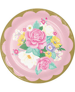 Mother/'S Day Floral Dinner Plates - Party Supplies 8 Pieces 8 Ct