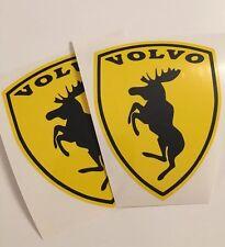 2x VOLVO Crest Moose -Ferrarie Sticker Decal Elk Moose S/V90 V60 XC60/70/90