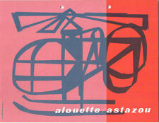 SUD AVIATION ALOUETTE / ASTAZOU MANUFACTURERS SALES BROCHURE HELICOPTER GERMAN