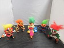 Battle Troll Dolls 6 Figure Lot Sgt. Troll Ninja Pirate Football Player - Hasbro