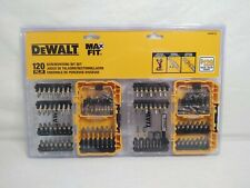 DEWALT Max fit 120 Piece Shank Screwdriver Bit Set impact rated new