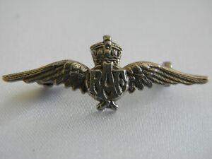 LOVELY VINTAGE STIRLING SILVER RAF WINGS SWEETHEART BROOCH