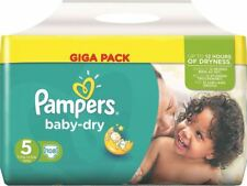 Pampers Baby Dry Size 5 GIGA PACK 108 NAPPIES for 11-25kg, Disposables