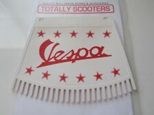VESPA REMADE METALPLAST RED & WHITE MUDFLAP WITH TASSELS - TOP QUALITY