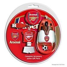 Arsenal Computer Accessory Junior Gift Pack - Mouse, Mat & USB - Ideal Football