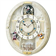SEIKO CLOCK wall clock mickey mouse Radio Analog Trick 12 songs melody FW580W