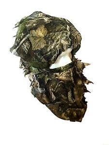 Camo Balaclava Veil Face Camouflage Head Mask Net Pigeon Shooting Leaf Paintball
