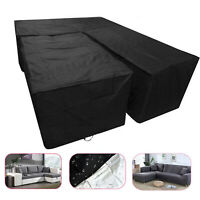Waterproof Patio Garden Furniture Cover Outdoor Rattan Sofa Protector L Shape