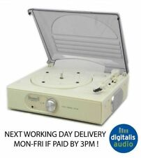 CREAM STEEPLETONE ST938 STEREO RECORD PLAYER 33,45,78 TURNTABLE BUILT IN AMP