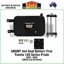 Grunt 4x4 Dual Battery Tray fit 120 Series Toyota Prado 2002-2006 4.0l Petrol