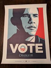 Shepard Fairey VOTE Barack Obama Lithograph Art Print OBEY GIANT / BANKSY / KAWS
