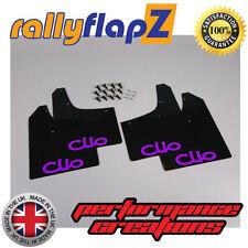 Parafanghi RENAULT CLIO MK2 (98-06) rallyflapZ Nera Logo Viola 4mm PVC