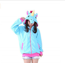 KIDS/ ADULTS UNICORN COSPLAY COSTUME JACKET SIZE M BLUE FREE P&P