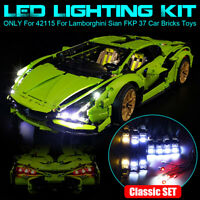 LED Licht Beleuchtung Set Für lego 42115 Für Lamborghini Sian Fkp 37 Auto Steine
