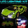 LED Light Lighting Kit For LEGO 42115 For Lamborghini Sian FKP 37 Car Bricks Toy