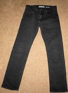 Boy's Levi Strauss Black Denim Jeans sz 12 (26w slim)  Back-2-School  EUC