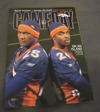 2002 Denver Broncos vs. Kansas City Chiefs program Deltha O'Neal Denard Walker