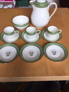 Royal Worcester 11 Piece Part Coffee Set Pattern Number C3265 c1923 Includes Pot