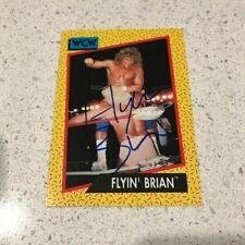 FLYIN BRIAN PILLMAN SIGNED AUTOGRAPHED WCW IMPEL CARD WWE WWF