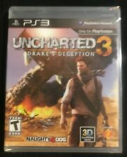 Uncharted 3: Drake's Deception (Sony PlayStation 3, 2011) Brand New Sealed ps3