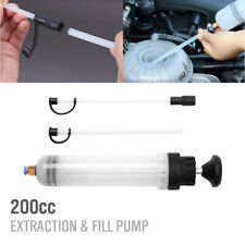 200cc Fluid Extraction Filling Syringe Fuel Transfer Liquid Pump Oil Extractor