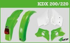 Kawasaki KDX 200 220 1995 - 2018 UFO Motocross Enduro Plastic Kit Green White