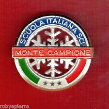 Spilla distintivo pin nazionale SCUOLA ITALIANA SCI MONTE CAMPIONE vintage sky