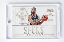 TIM DUNCAN 1/1 2012-13 PANINI NATIONAL TREASURES BASKETBALL TIMELINE JERSEY /99