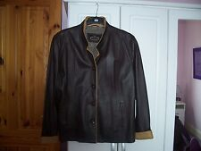Exquisite soft REAL lamb's leather brown/camel jkt,size48 Never worn.Cost £120