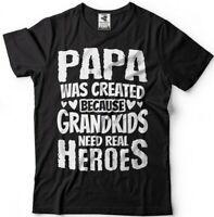 Men's Grandpa T-shirt Grandpa Papa Hero Grandfather Gift T-shirt Grandpa Gifts