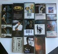 """Lot of 14 Cassette Tapes Michael Jackson """"Thriller"""" Fleetwood Mac """"Rumors"""" Bowie"""