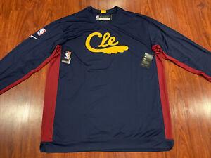Nike Men's Cleveland Cavaliers Cavs Long Sleeve Shooting Jersey Shirt XXLTT 2XL