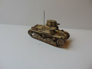 1:72 WW2 BUILT & PAINTED ITALIAN M11/39
