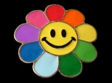 Happy Colorful Smiling Flower Sunflower Rainbow Belt Buckles Boucle de Ceinture