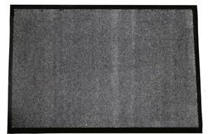 Durable Wipe-N-Walk Vinyl Backed Indoor Carpet Entrance Mat, 3' x 4', Charcoal