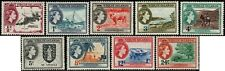 British Virgin Islands 1956 QEII set to 24c Trees, Boats SG149-157 Hinged Mint