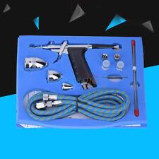 Airbrush Kit Dual Action Needle Spray Gun 2CC 5CC 13CC Paint Art Tattoo Tool NEW
