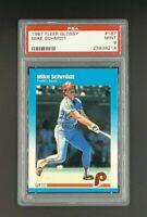 1987 Fleer Glossy #187 Mike Schmidt HOF Philadelphia Phillies PSA 9 Mint