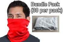 Face mask Neck Gaiter (Mixed colors) | 100% ring spun Cotton | 30 Pack Lot