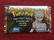 Pokemon: First Movie (1999 Topps) Official Trading Cards Booster Pack, Sealed!