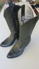 Olathe Men's Boots Black Leather 10 D Nice!  style # 4095