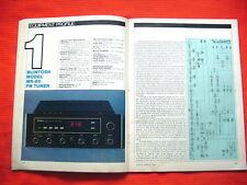 "McIntosh MR-80 FM tuner test review ""Audio"" magazine 3/81"
