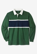 KingSize Men's Big & Tall Long-Sleeve Rugby Polo