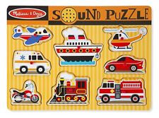 Melissa &Amp; Doug Vehicles Sound Puzzle - Wooden Peg Puzzle With Sound Effects